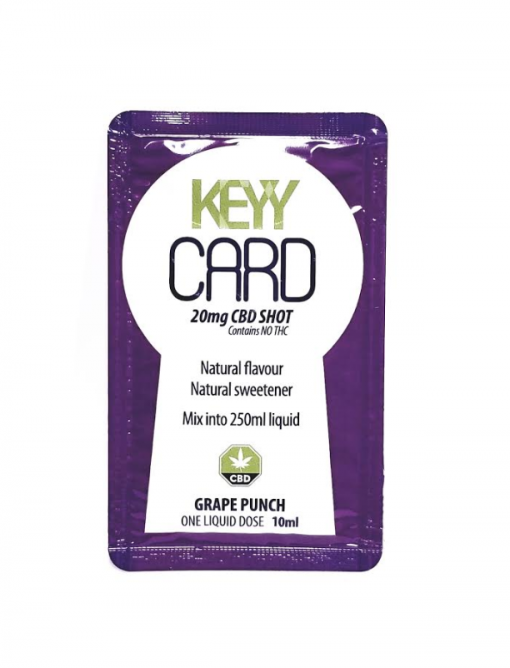 Keyy card grape CBD Shot